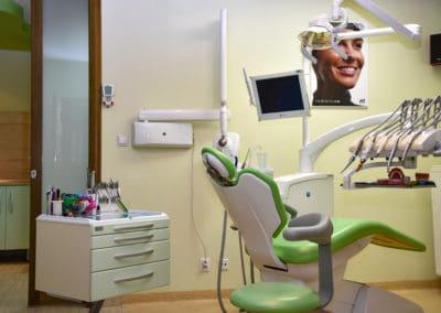 Fotel ortodontyczny zielony